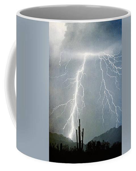 Lightning Coffee Mug featuring the photograph Thunderbolts From The Heavens Above by James BO Insogna