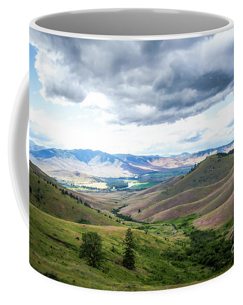 Landscape Coffee Mug featuring the photograph Thunderclouds Over The Hills by Amy Sorvillo