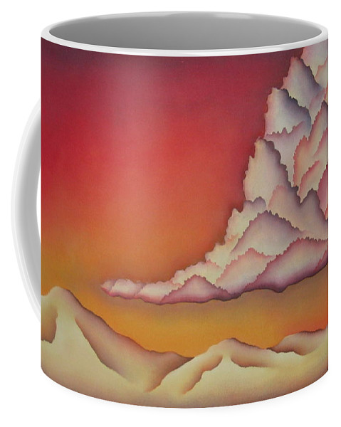 Landscape Coffee Mug featuring the painting Thunderhead by Jeniffer Stapher-Thomas