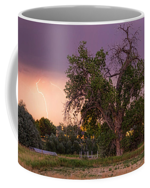 Lightning Coffee Mug featuring the photograph Thunderstorm In The Woods by James BO Insogna