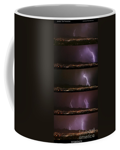 Lightning Coffee Mug featuring the photograph Thunderstorm Sequence by James BO Insogna
