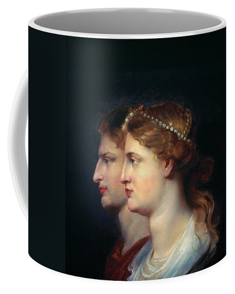 1st Century Coffee Mug featuring the photograph Tiberius & Agrippina by Granger