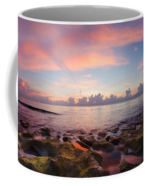 Atlantic Coffee Mug featuring the photograph Tidal Pools At Sunrise by Debra and Dave Vanderlaan