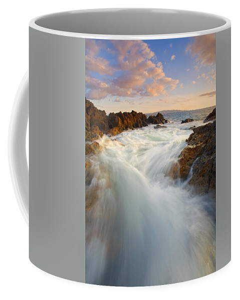 Surge Coffee Mug featuring the photograph Tidal Surge by Mike Dawson