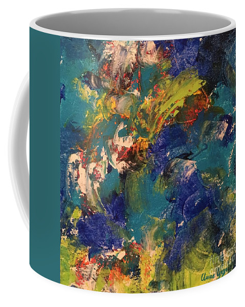 Abstract Coffee Mug featuring the painting Tidal Wave by Claire Gagnon