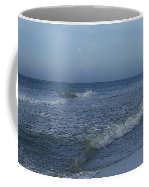 Tide Coffee Mug featuring the photograph Tide Rolling In Ocean Isle Beach North Carolina by Teresa Mucha