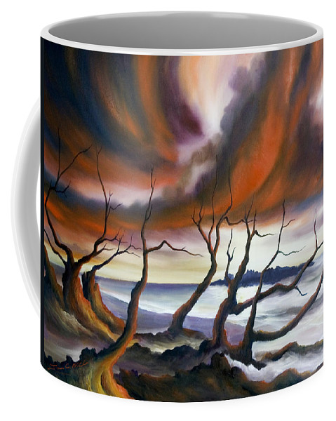 Marsh Coffee Mug featuring the painting Tideland by James Christopher Hill