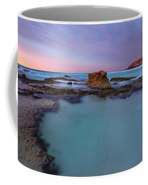 Seascape Tidepools Coffee Mug featuring the photograph Tidepool Dawn by Mike Dawson