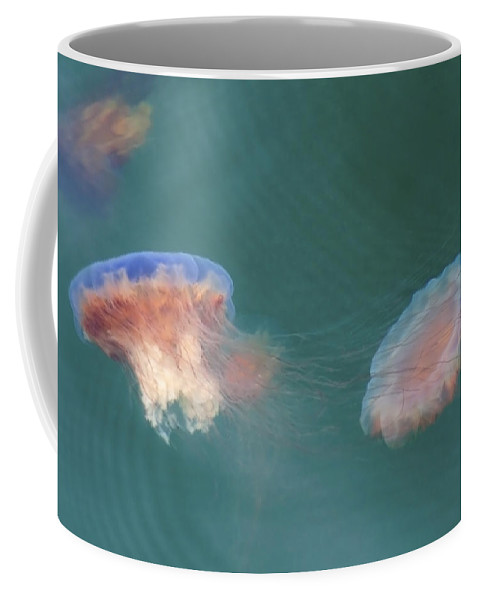 Jellyfish Coffee Mug featuring the photograph Tie-dyed Jellyfish by Sven Brogren
