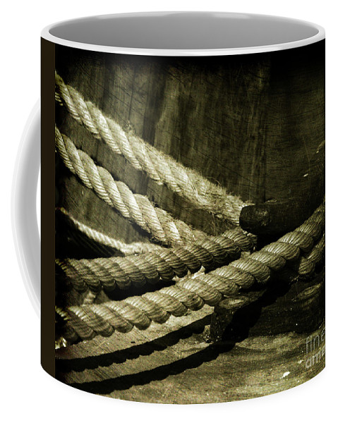 Strength Coffee Mug featuring the photograph Tied down for good by Susanne Van Hulst