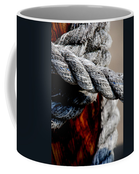Ropes Coffee Mug featuring the photograph Tied Together by Susanne Van Hulst