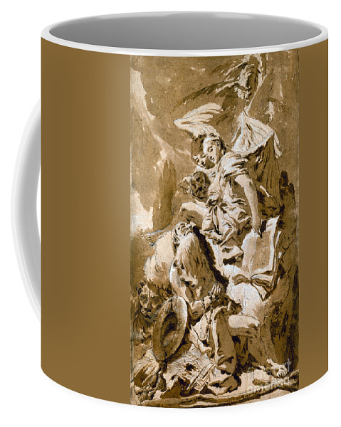 1730s Coffee Mug featuring the painting Tiepolo: Saint Jerome by Granger