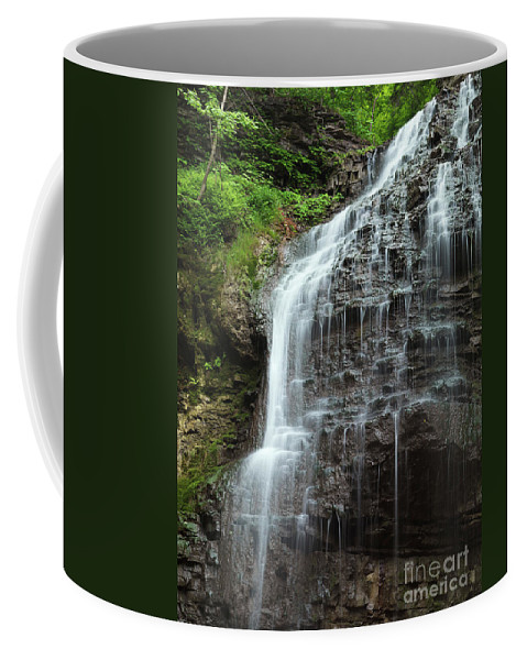 Waterfall Coffee Mug featuring the photograph Tiffany Falls by Oleksiy Maksymenko