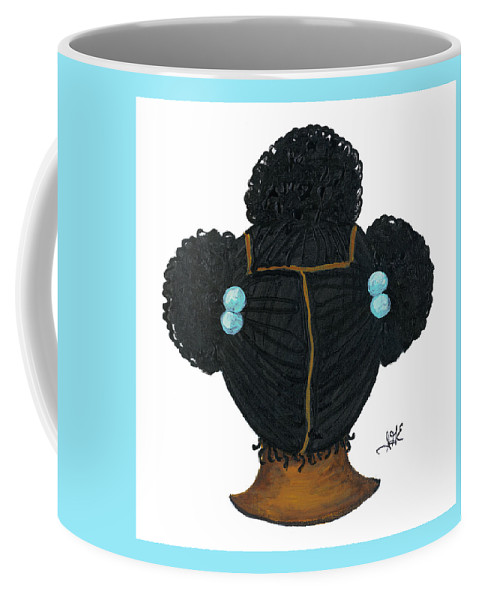 Children Art Coffee Mug featuring the painting Tiffany by Sonja Griffin Evans