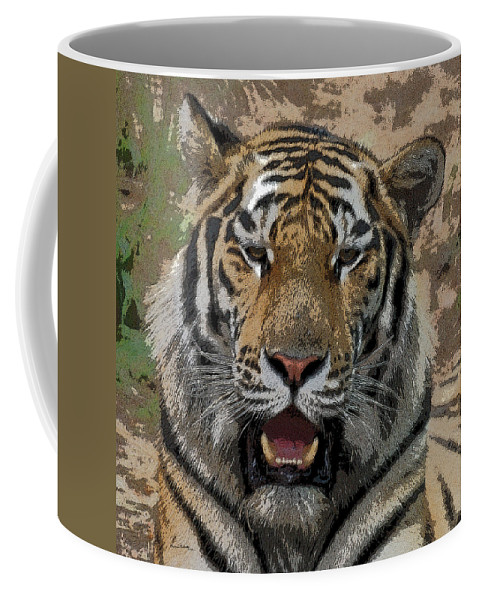Tiger Coffee Mug featuring the photograph Tiger Abstract by Ernie Echols