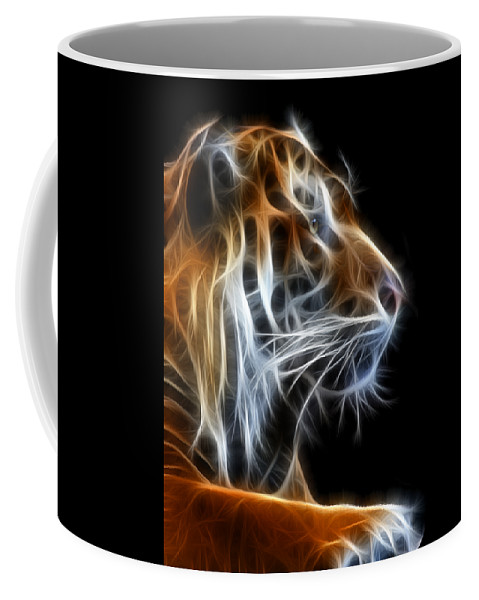 Tiger Coffee Mug featuring the photograph Tiger Fractal 2 by Shane Bechler