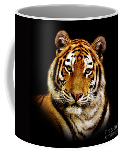 Wildlife Coffee Mug featuring the photograph Tiger by Jacky Gerritsen