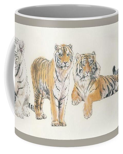 Tiger Coffee Mug featuring the mixed media Tiger Wrap by Barbara Keith