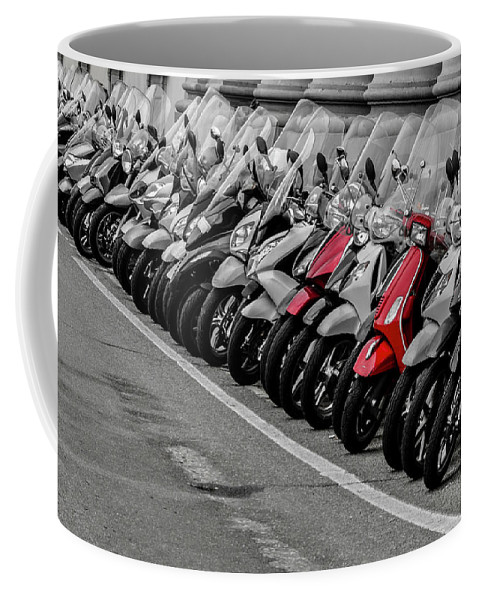 Florence Coffee Mug featuring the photograph Tight Parking by Wolfgang Stocker