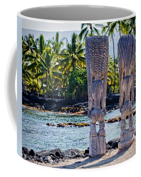 Tiki Coffee Mug featuring the photograph Tiki Butts by Kelley King