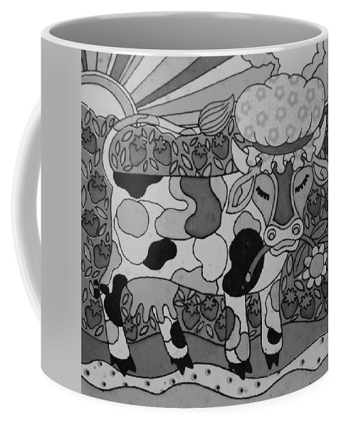 Pop Art Coffee Mug featuring the photograph Tile Cow by Rob Hans