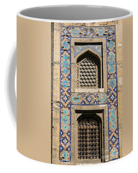 Fatih Coffee Mug featuring the photograph Tiled Window Frame by Bob Phillips