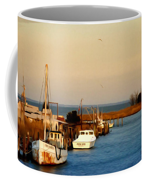 Tilghman Island Maryland Coffee Mug featuring the photograph Tilghman Island Maryland by Bill Cannon