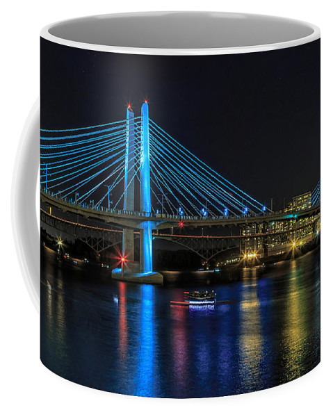 Tilikum Crossing Coffee Mug featuring the photograph Tilikum Crossing by Wes and Dotty Weber