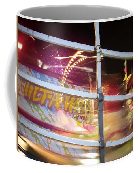 State Fair Coffee Mug featuring the photograph Tilt-a-whirl 1 by Anita Burgermeister