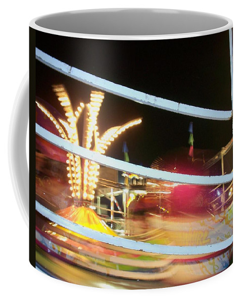 State Fair Coffee Mug featuring the photograph Tilt-a-whirl 2 by Anita Burgermeister