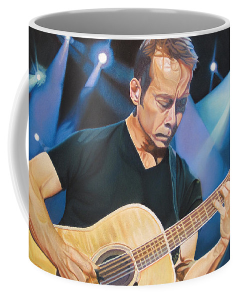 Tim Reynolds Coffee Mug featuring the drawing Tim Reynolds And Lights by Joshua Morton