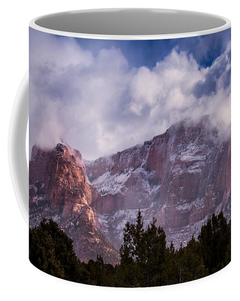 Zion Coffee Mug featuring the photograph Timber Top Mountain by Rob Travis