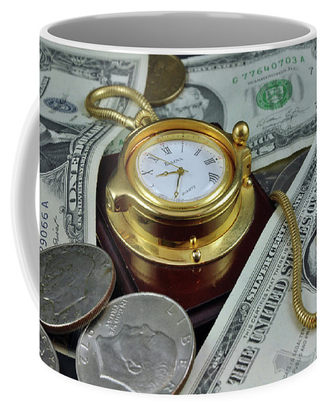 Time Coffee Mug featuring the photograph Time And Money by Jim Cole