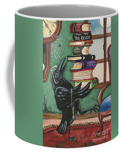 Print Coffee Mug featuring the painting Time For Learning by Margaryta Yermolayeva