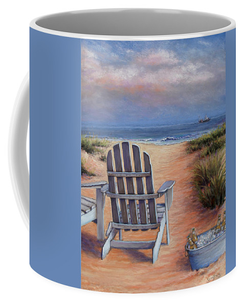 Landscape Coffee Mug featuring the pastel Time To Chill by Susan Jenkins