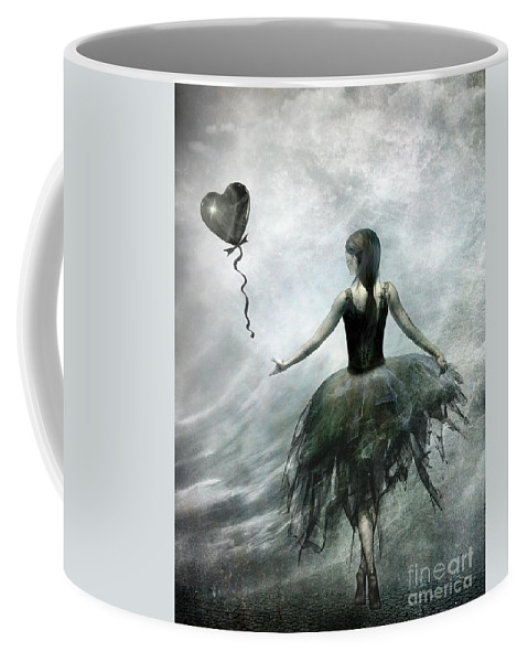Ballet Coffee Mug featuring the painting Time To Let Go by Jacky Gerritsen