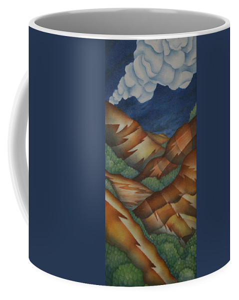 Mountains Coffee Mug featuring the painting Time To Seek Shelter by Jeniffer Stapher-Thomas