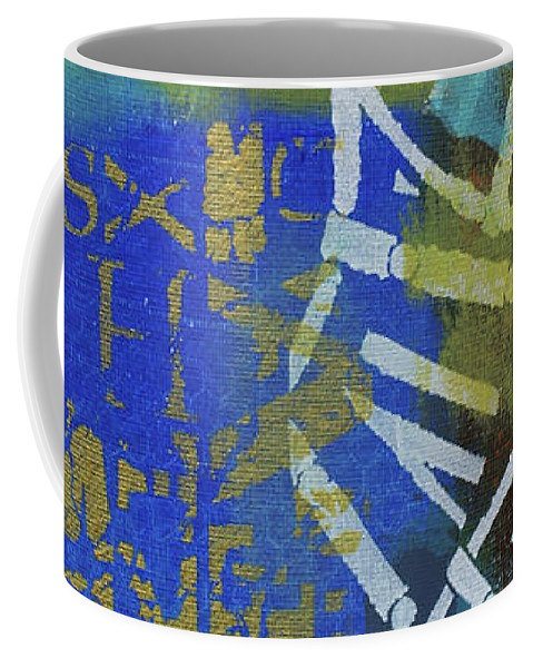 Time Travel Coffee Mug featuring the painting Time Travel by Artist Gaya
