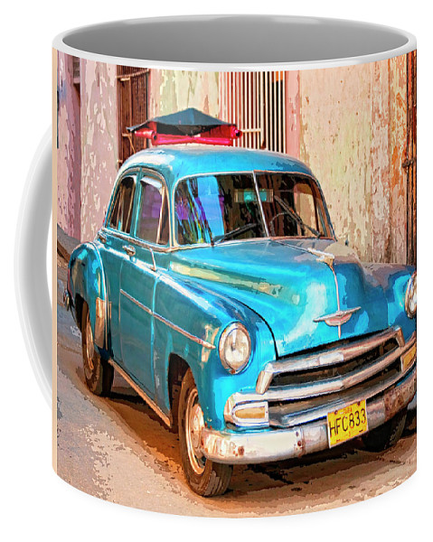 Time Traveler Coffee Mug featuring the mixed media Time Traveler by Dominic Piperata