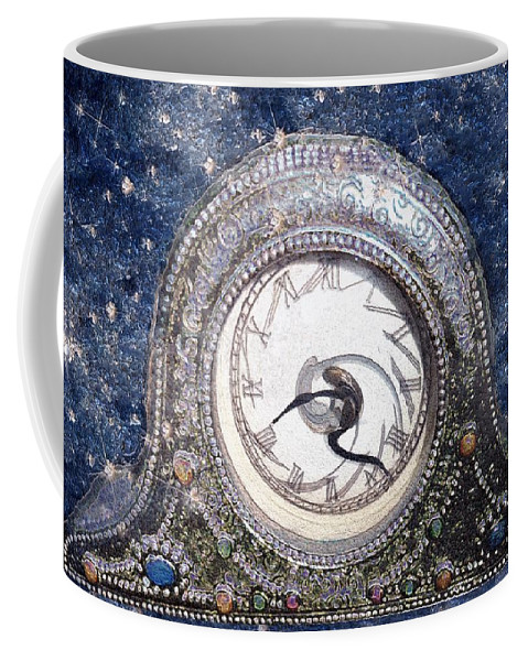 Clock Coffee Mug featuring the painting Time Warp by RC deWinter