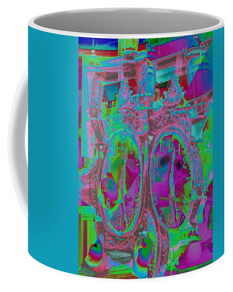 Clock Coffee Mug featuring the photograph Time Warped by Tim Allen
