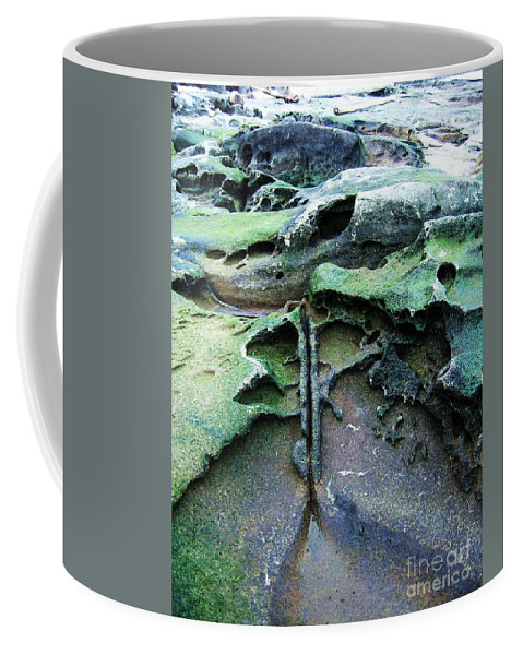 Photograph Rock Beach Ocean Coffee Mug featuring the photograph Time Washed Out by Seon-Jeong Kim