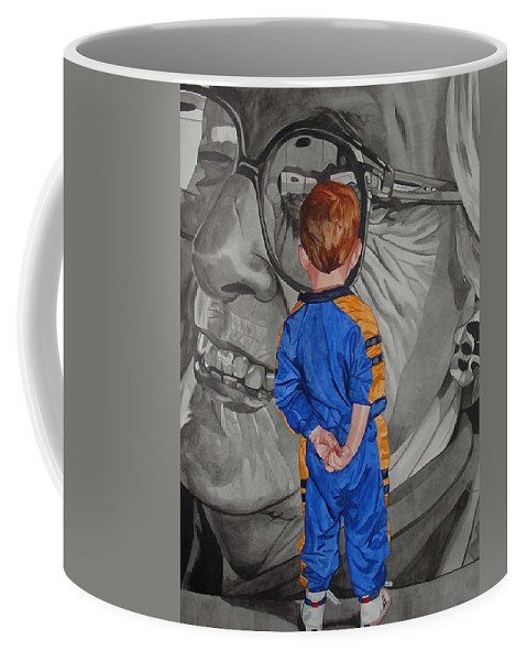 Children Coffee Mug featuring the painting Timeless Contemplation by Valerie Patterson