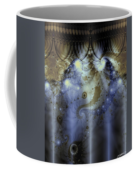Blue Coffee Mug featuring the digital art Timeline Of History by Casey Kotas