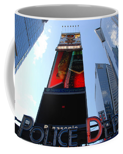 Times Square Coffee Mug featuring the photograph Times Square Cops by Rob Hans