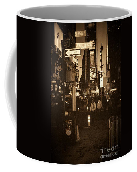 New York Coffee Mug featuring the photograph Times Square by Debbi Granruth