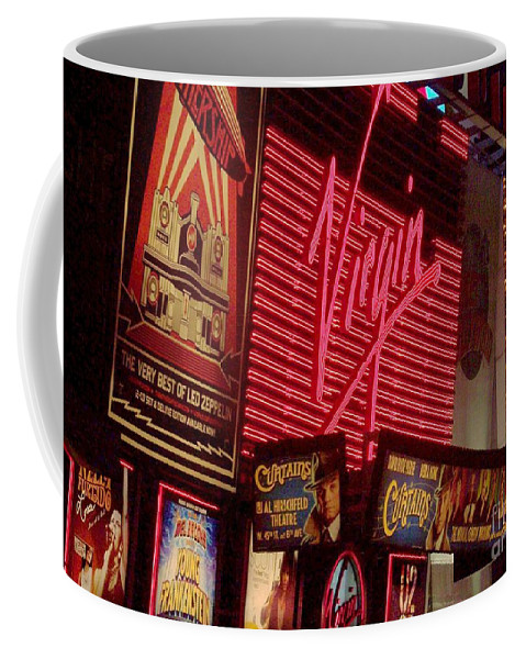 Times Square Coffee Mug featuring the photograph Times Square Night by Debbi Granruth