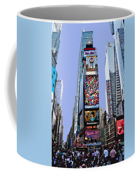 New York City Coffee Mug featuring the photograph Times Square Nyc by Kelley King