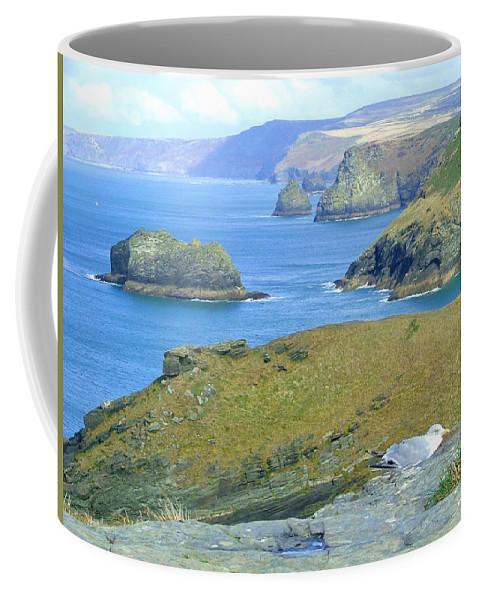 Cornwall Coffee Mug featuring the photograph Tintagel by Heather Lennox