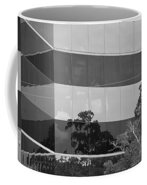Black And White Coffee Mug featuring the photograph Tinted Glass by Rob Hans